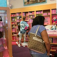 justin and jazz at an American Girl doll store out in LA