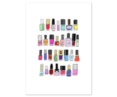 Kunstdruck 30 Nail Polishes | Westwing Home & Living