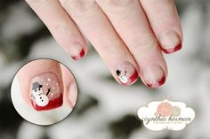 Snowman by megz83 - Nail Art Gallery nailartgallery.nailsmag.com by Nails Magazine www.nailsmag.com #nailart