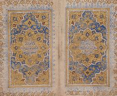 Double-Page Illumination with Verse from the Qur'an (17:88) Iran, 15th-16th century Ink, gold, and colors on paper Bifolio, overall: 4 x 5 in. (10.16 x 12.7 cm); Text block: 3/4 x 3/4 in. (1.91 x 1.91 cm) LACMA Collections
