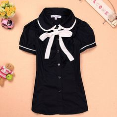 College Wind bow cotton T-shirt