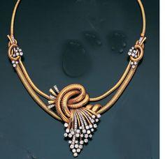 A diamond necklace/brooch/earclip combination, Jewelry Design Earrings, Gold Earrings Designs, Emerald Jewelry, Gold Jewellery Design, Indian Jewelry Sets, India Jewelry, Gold Necklaces, Diamond Necklaces, Diamond Pendant