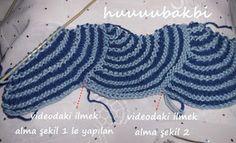 mormenekşeler: dikdörtgen şal-etol örgü Crochet Stitches, Crochet Hats, Knitted Baby Blankets, Lace Knitting, Projects To Try, Fun, Cape Clothing, Knitting, Yarns