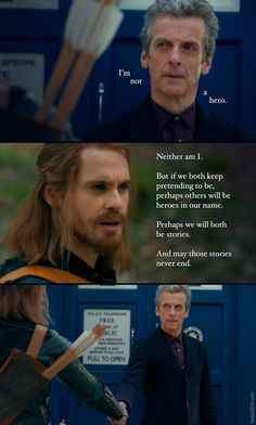 "From Doctor Who, Season 8, Ep 3 ""Robot of Sherwood"" Quote Pic - Heroes of Never-ending Stories."