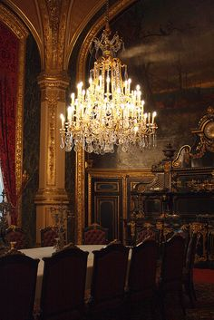 Dining room, Naépoleon III apartment, Le Louvre via Flickr.