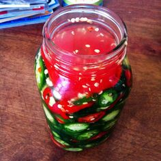 Fermented Jalapeno (and other Hot) Peppers Slices ...with a trick to prevent the hot peppers from floating in the brine