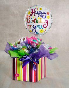 Buy Birthday Balloon Edible Arrangement Online