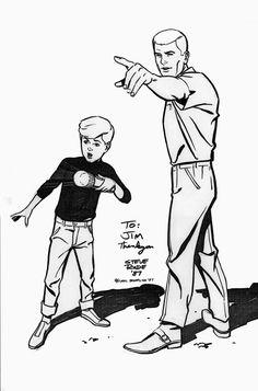 Jonny And Race (ahh, johnny quest) Comic Book Artists, Comic Artist, Comic Books Art, Cartoon Tv, Cartoon Characters, Studio Ghibli, Race Bannon, Dreamworks, Jonny Quest