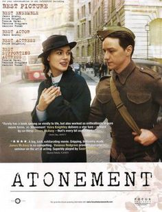 Best Actress, Best Actor, Atonement, Cool Pictures, Actresses, Actors, Pure Products, Books, Movie Posters