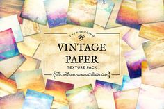 Vintage Paper Textures Heavenward by Eclectic Anthology on @creativemarket