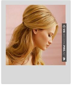 37 trendy hair diy half up hairdos Half Up Wedding Hair, Classic Wedding Hair, Beach Wedding Hair, Wedding Hair And Makeup, Bridal Hair, Up Hairdos, Work Hairstyles, Party Hairstyles, Teased Hair