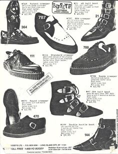 #ThrowbackThusday: Vintage 80's Footwear Ads | Haute Macabre