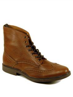 Brogue boots Vegan