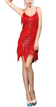 Whitewed Women s Fringe Sequin 1920 s Gatsby Flapper Dress Size 8 10 UK  Black. Whitewed Women s Fringe Sequin 20 s Gatsby Latin Dance Slip ... 7040348de