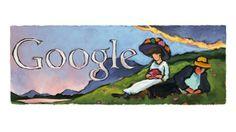 Das Google Doodle am 19. Februar 2014 erinnert an Gabriele Münter. (Quelle: Google)