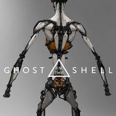 Ghost in the Shell - Early concept work, Andrew Baker Cyberpunk Character, Cyberpunk Art, Sci Fi Armor, Robot Concept Art, Futuristic Art, Ex Machina, Robot Design, Ghost In The Shell, Cultura Pop