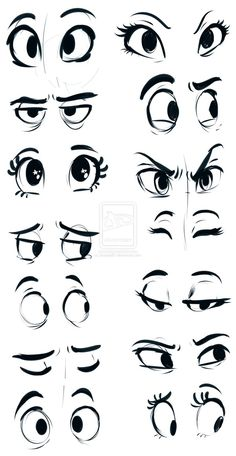 Cute Cartoon Eyes To Draw