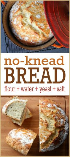 Bread Recipe -- This widely popular no-knead bread recipe is so simple, absolutely ANYONE can make it. We promise!No-Knead Bread Recipe -- This widely popular no-knead bread recipe is so simple, absolutely ANYONE can make it. We promise! Dutch Oven Bread, Dutch Oven Recipes, Easy Bread Recipes, Cooking Recipes, Simple Bread Recipe, Frugal Recipes, Recipe Tasty, Recipe Recipe, Chicken Recipes