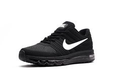 finest selection a4ace c9784 Nike Air Max 2017 Men s not 2016 Sneakers Running Trainers Shoes black and  white