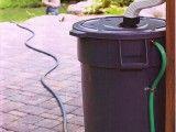 Rain barrel for watering the garden!