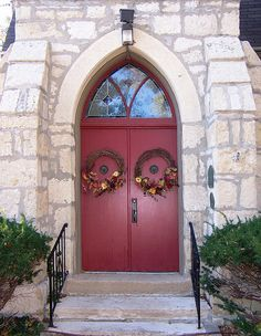 Manhattan, KS St. Paul's Episcopal Church doors by army.arch, via Flickr