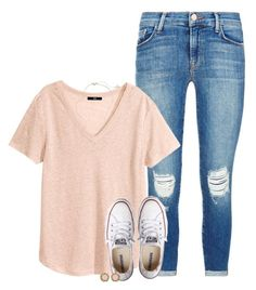 """""""Day #2: LaSt DaY oF sChOoL!!!!!"""" by conleighh ❤ liked on Polyvore featuring J Brand, H&M, Converse, Kendra Scott and schoolsoutmadiandashe"""