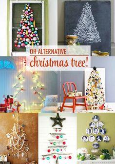 Alternative Christmas Tree #Christmas Decor