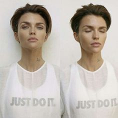 Ruby Rose for Nike 🔥 Pixie Hairstyles, Pixie Haircut, Haircuts, Medium Short Hair, Short Hair Cuts, Hair Inspo, Hair Inspiration, Ruby Rose Hair, Shot Hair Styles