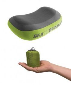 Aeros Premium Pillow. Sea-to-Summit. Backpacking Gear. Ultra light camping.