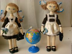 Купить Кукла Школьница - белый, кукла ручной работы, кукла в подарок, купить подарок