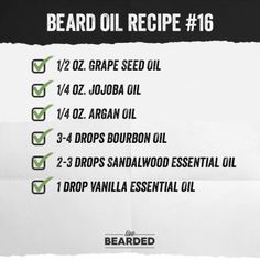 Looking for a good beard oil? We'll show you how to craft the perfect beard oil recipe from home, and show you step by step what you need to do! Homemade Beard Oil, Diy Beard Oil, Beard Oil And Balm, Best Beard Oil, Beard Balm, Beard Growth Tips, Beard Tips, Beard Ideas, Sandalwood Essential Oil