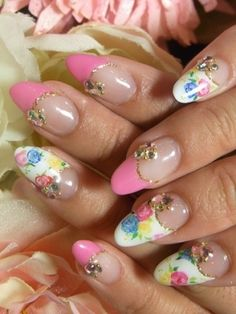 Glam Nail Art Designs for Spring 2012 Pretty Nail Designs, Nail Art Designs, Cool Designs, Flower Nail Art, Art Flowers, Nailed It, French Acrylic Nails, Glam Nails, 3d Nail Art