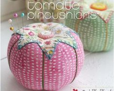 Retro Sewing Sewing Pattern Release :: Sew Pretty Tomato Pincushions and a Sale! Free Sewing, Vintage Sewing Patterns, Sewing Designs, Pattern Sewing, Sewing Hacks, Sewing Crafts, Sewing Tips, Sewing Tutorials, Bag Tutorials