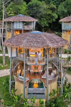 Have you ever wanted to stay in a treehouse? TreeHouse Villas Koh Yao Noi Luxury Resort in Thailand I 7 nights from only. Stay In A Treehouse, Treehouse Hotel, Interior Tropical, Bamboo House Design, Jungle Resort, Hut House, Jungle House, Boutique Hotels, Tropical Houses