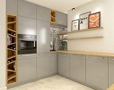 Dom w Opolu - Średnia kuchnia w kształcie litery u w aneksie, styl nowoczesny - zdjęcie od WERDHOME