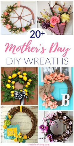 10 simple do-it-yourself gifts you can make in 1 hour or lessMother's Day is getting closer and it's time to get these simple Mother's Day gifts ready! Fortunately, I have the perfect, simple Mother's Day Mothers Day Decor, Mothers Day Wreath, Mothers Day Crafts For Kids, Mothers Day Cards, Mothers Day Desserts, Mothers Day Flowers, Homemade Mothers Day Gifts, Homemade Gifts, Mother Day Gifts