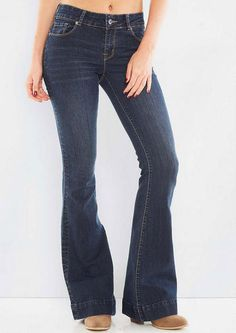 Dark Wash Flare - Flare/Wide - Jeans by Fit - Jeans - Alloy Apparel