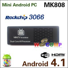 MK808 Dual Core RK3066 Mini Android PC Android 4.1 Jelly Bean Cortex A9 1GB RAM 8G ROM HDMI TF Card