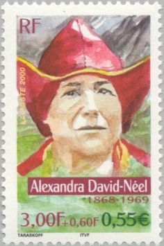 Sello: Alexandra David-Néel (1868-1960) (Francia) (Famous adventurers) Yt:FR 3343,Mi:FR 3484