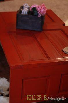 Reclaimed Door Coffee Table