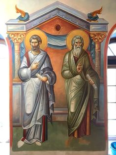 Byzantine Icons, Byzantine Art, Russian Icons, Church Interior, Icon Collection, Religious Icons, Orthodox Icons, Cristiano, Color Pallets
