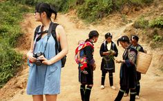 Sapa walking with people ethnic minority