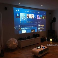 - Playstation - Ideas of Playstation - - Room Design Home Cinema Room, Home Theater Rooms, Room Interior, Interior Design Living Room, Small Game Rooms, Teen Game Rooms, Bedroom Setup, Gaming Room Setup, Gaming Rooms