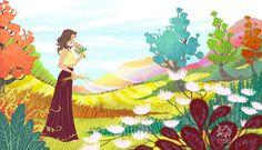 More sensitivity from now on!😉😌✌️💖🌿🍃🌺🌷🌸💐🌈 #illustration #woman #sensibility #nature #flowers #grass #smell #enjoy #fashion #art #digitalart #fantasy #cartoon #landscape #beauty #colorfull #draw