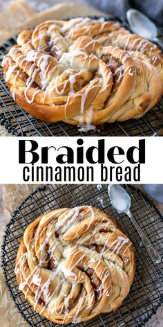 Best braided homemade cinnamon bread recipe! This simple recipe includes step-by-step pictures so you can make perfect braided cinnamon bread. Fun Easy Recipes, Retro Recipes, Easy Meals, Ethnic Recipes, Yeast Bread Recipes, Baking Recipes, Breakfast Recipes, Dessert Recipes, Desserts