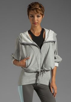 ADIDAS BY STELLA MCCARTNEY Athletic Hoodie in Medium Grey Heather at Revolve Clothing - Free Shipping!