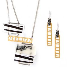 Collier/necklace: FINARIA 02-A | Boucles d'oreilles/earrings: OLEA 01-or mat/matte gold