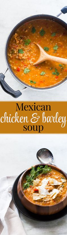 Mexican Chicken & Barley Soup