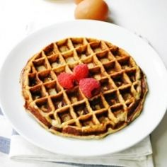 Four Ingredient Waffle HealthyAperture.com