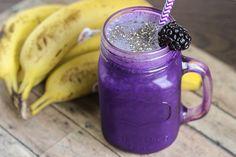 skinny blackberry banana smoothie